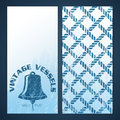 Nautical flayers with seafaring elements bell and rope pattern Stock Photos