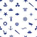 Nautical icon seamless pattern eps10 Royalty Free Stock Photo