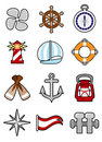 Nautical icon set Royalty Free Stock Photography