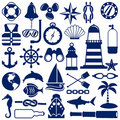 Nautical icons Royalty Free Stock Photography