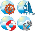 Nautical icons Royalty Free Stock Images