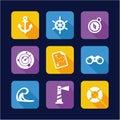 Nautical Icons Flat Design