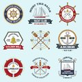Nautical Labels Set Royalty Free Stock Photo