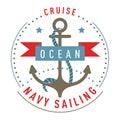 Nautical logo, emblem, label template