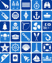 Nautical and marine icons Royalty Free Stock Photography