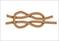 Nautical rope knot Royalty Free Stock Photo