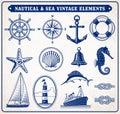 Nautical And Sea Vintage Illus...