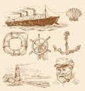Nautical set Royalty Free Stock Image