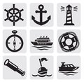 Nautical set Royalty Free Stock Photography