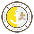 Nautical Travel Stamp with Holy See Vatican City. Royalty Free Stock Photo