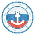 Navigačné cestovať pečiatka slovinsko vlajka a