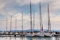 Nautical yachts in marina of baska voda dalmatia croatia Stock Images