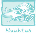 Nautilus in Blue Royalty Free Stock Photos