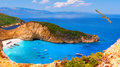 Navagio Bay And Ship Wreck Bea...
