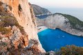 Navagio - the famous beach on Zakynthos island Royalty Free Stock Photo