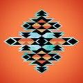 Navajo aztec textile inspiration pattern native american indian tribal hand drawn art Royalty Free Stock Photos