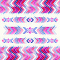 Navajo aztec textile inspiration watercolor pattern native amer american indian tribal hand drawn art Stock Photography