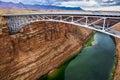 Navajo Bridge on the Colorado River Royalty Free Stock Photo