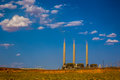 Navajo generating station page arizona june the coal fired plant is said to be one of the th dirtiest power plants in the us Royalty Free Stock Photos