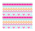 Navajo hipster pattern a of geometric Stock Photography