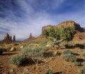Navajo Indian Land, Monument Valley, Arizona Royalty Free Stock Photo