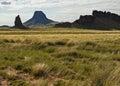 Navajo nation scenery rock formations on the arizona Royalty Free Stock Photos