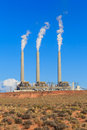 Navajo power generating station az page Stock Photography