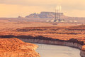 Navajo power generating station lake powell page az Stock Photography