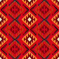 Navajo tribal ornament vector seamless ethnic pattern with american indian motifs in multiple colors colorful aztec background Royalty Free Stock Images