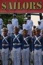Naval academy a number of cadet aal when follow a procession of forces in the event the graduation of purna wira high officer tni Royalty Free Stock Images
