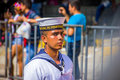 Naval academy students participate in colombia s most important barranquilla february folklore celebration the carnival Royalty Free Stock Photography