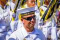 Naval academy students participate in colombia s most important barranquilla february folklore celebration the carnival Stock Photography