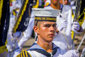 Naval academy students participate in colombia s most important barranquilla february folklore celebration the carnival Stock Photos