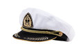 Naval cap with a visor Royalty Free Stock Photos