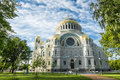 Naval Cathedral of St. Nicholas in Kronstadt, St-Petersburg. Royalty Free Stock Photo