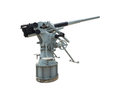 Naval gun isolated at museum on white background with clipping path Stock Images