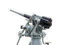 Naval gun isolated at museum on white background with clipping path Stock Photography