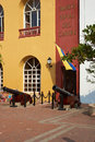 Naval museum entrance to the in the historic city of cartagena de indias colombia Stock Photography