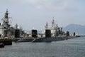 Naval port in kure japan Royalty Free Stock Photo