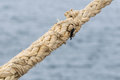 A naval rope on a pier in canary islands spain Stock Image