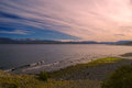 Navarino panorama picturesque on island of in southern chile Stock Photo