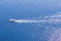 Nave da crociera sul bello mare blu Fotografia Stock Libera da Diritti