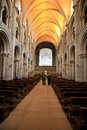 The Nave, Priory church, Christchurch. Royalty Free Stock Photo