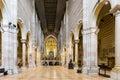 Nave of san zeno in verona interior basilica Royalty Free Stock Image