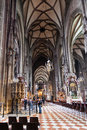 Nave of St Stephen Cathedral (Stephansdom) Vienna Royalty Free Stock Photo