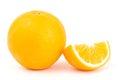 Navel orange fruit fresh on white background Stock Photos