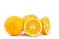 Navel orange fruit fresh on white background Royalty Free Stock Image