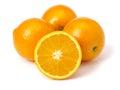 Navel oranges on white background Royalty Free Stock Images