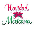 Navidad mexicana mexican christmas spanish text vector calligraphic lettering Royalty Free Stock Images