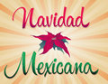 Navidad mexicana mexican christmas spanish text vector card Stock Photos